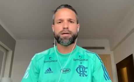 Diego gravou vídeo ainda no Equador após testar positivo para Covid-19 (Foto: Reprodução/Youtube)
