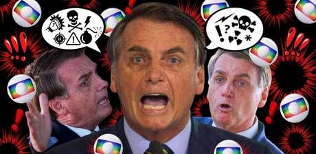 Sem papas na língua, Bolsonaro vocifera contra a Globo quase diariamente