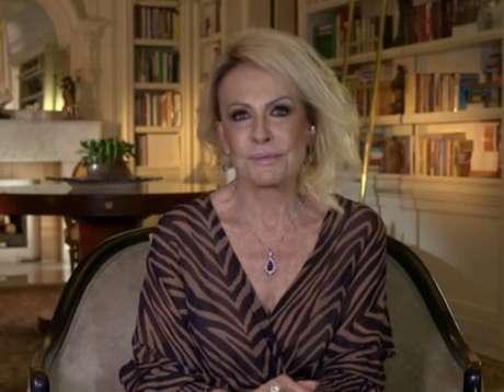 A apresentadoraAna Maria Braga, em entrevista no programa 'Roda Viva'