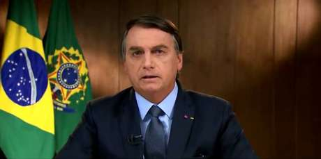 Presidente Jair Bolsonaro em discurso gravado para a abertura da 75ª Assembleia Geral das Nações Unidas.