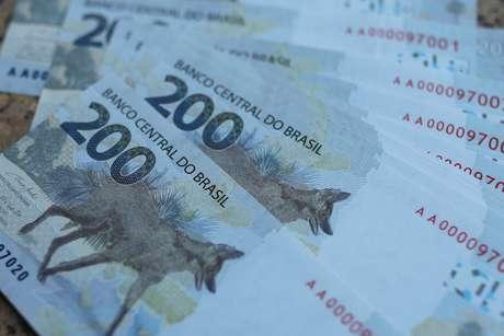 Cédulas de 200 reais. 2/9/2020. REUTERS/Adriano Machado