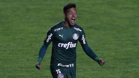 Gabriel Menino comemora o gol em La Paz (Foto: Cesar Greco/Palmeiras)