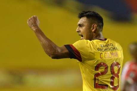 Colmán marcou o único gol do Barcelona na Liberta, contra oJunior Barranquilla (Foto: Divulgação/Libertadores)