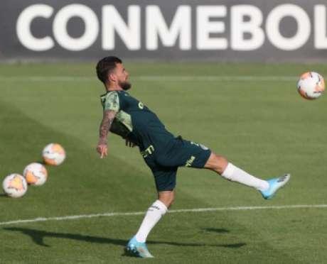 Lucas Lima na Cancha da Conmebol (Foto: Cesar Greco/Palmeiras)