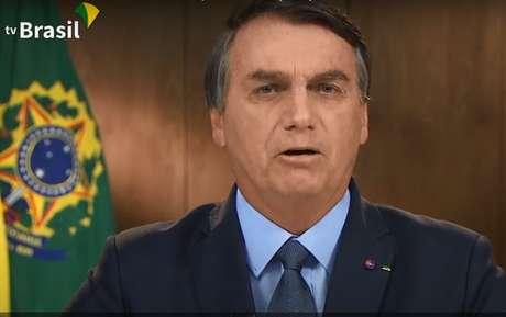 Presidente Jair Bolsonaro durante pronunciamento na ONU