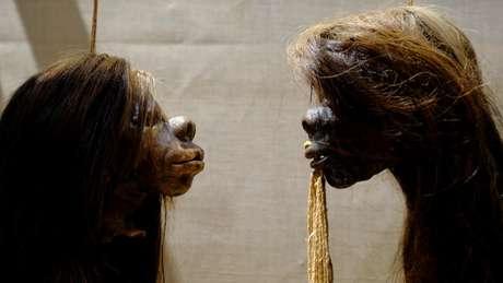 As tsantsas eram feitas por povos indígenas da Amazônia peruana e equatoriana
