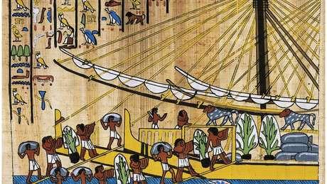 Papiro mostra navios da expedição à Terra de Punt