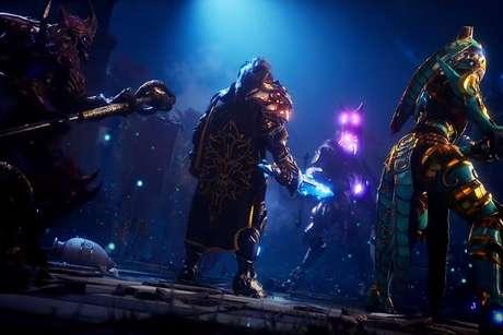 Godfall foi um dos primeiros jogos a serem anunciados para a próxima geração de consoles e traz uma história cheia de ação, aventura e fantasia.