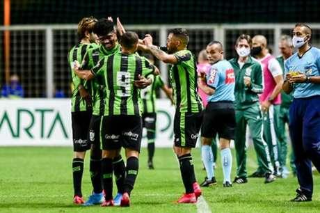 O Coelho dominou a partida do início ao  fim e se garantiu na fase oitavas de final da Copa do Brasil-(Mourão Panda/América-MG)