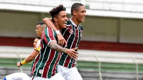 Miguel marcou o segundo gol da vitória do Fluminense sobre o Bahia pelo Campeonato Brasileiro sub-20 (Foto: MAILSON SANTANA/FLUMINENSE FC)