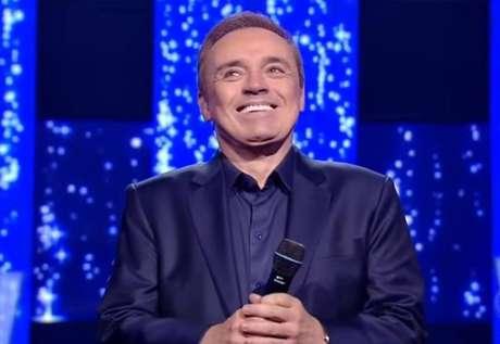 Gugu Liberato, na edição da semifinal do 'Canta Comigo', na Record TV