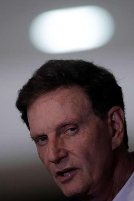 Prefeito do Rio de Janeiro, Marcelo Crivella, em Brasília 07/03/2018 REUTERS/Ueslei Marcelino