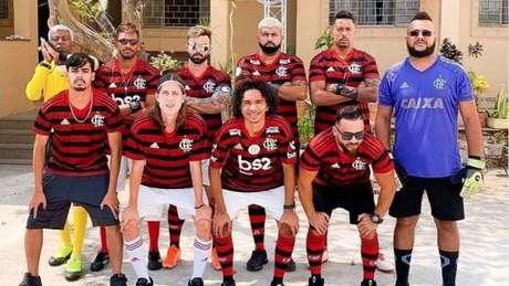 Bruno Henrique, Gabigol e Filipe Luís: Sósias do Flamengo estão invictos nas peladas (Foto: João Marcos/Divulgação)