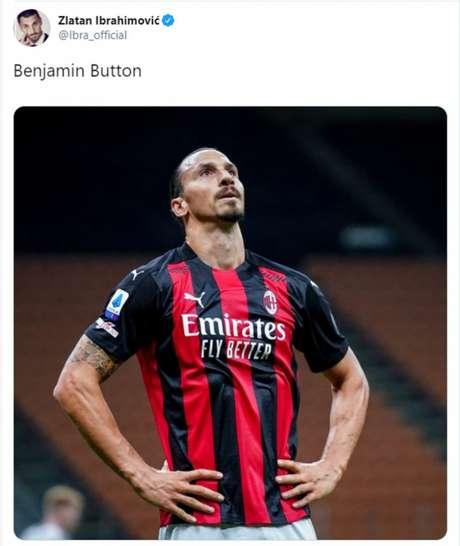 Ibrahimovic é conhecido por seu jeito descontraído nas redes sociais (Reprodução/ Twitter Ibrahimovic)