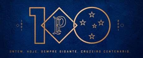 A marca dos 100 anos do Cruzeiro representa o passado e o presente do clube celeste-(Reprodução/Cruzeiro)