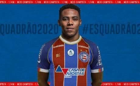 Elias assinou com o Bahia e foi anunciado nesta quarta-feira (Foto: Divulgação/Bahia)