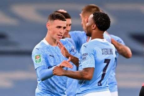 Manchester City venceu por 2 a 1 (Foto: LAURENCE GRIFFITHS / POOL / AFP)
