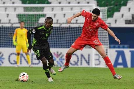 Dudu foi substituído pouco antes do gol do Al-Taawoun (Reprodução/Twitter)