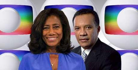 Gloria Maria e Heraldo Pereira, precursores entre os negros na Globo: o canal busca ampliar a representatividade étnica diante das câmeras e em funções nos bastidores