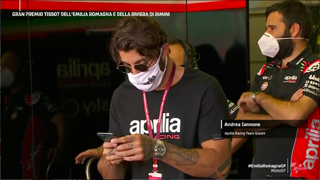 Andrea Iannone visitou a MotoGP em Misano