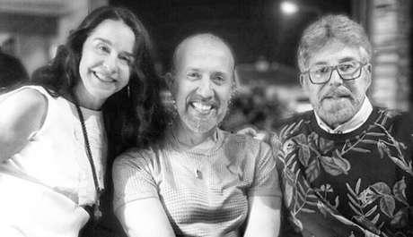 O autor Rui Vilhena entre Lucélia Santos e Edwin Luisi: parceria bem-sucedida no canal português TVI