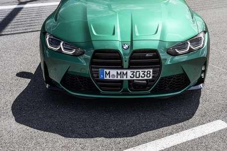Nova geração do BMW M3 Sedan chamou atenção por causa do tamanho da grade.