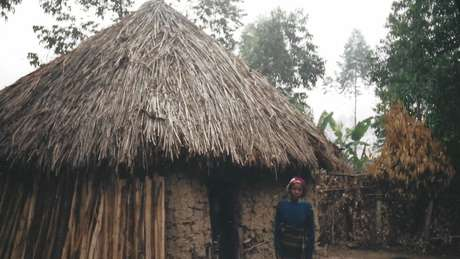 Casa onde Peter cresceu, em Kabale, na Uganda