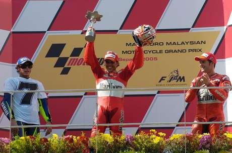 O pódio do GP da Malásia