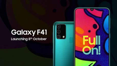 Samsung apresenta detalhes do Galaxy F41 em vídeo