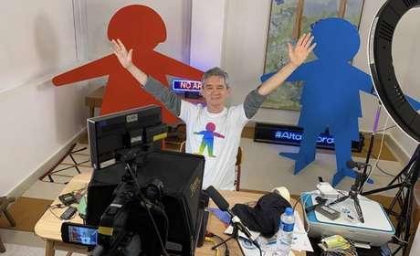 O apresentador do 'Altas Horas',Serginho Groisman