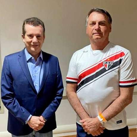 Celso Russomanno visitou opresidente Jair Bolsonaro neste sábado, 26
