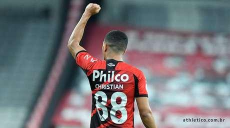 Christian fez o gol da vitória do Athletico-PR contra o Bahia na Arena da Baixada
