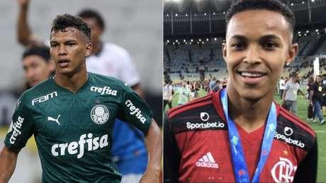 Parceiros na Seleção Sub-17, Veron e Lázaro vão se reencontrar no Allianz (Cesar Greco/Palmeiras; Lazlo Dalfovo)