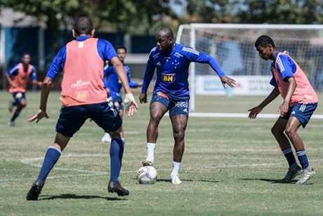 Sassá voltou a treinar com a Raposa e já está liberado para jogar na Série B-(Gustavo Aleixo/Cruzeiro)