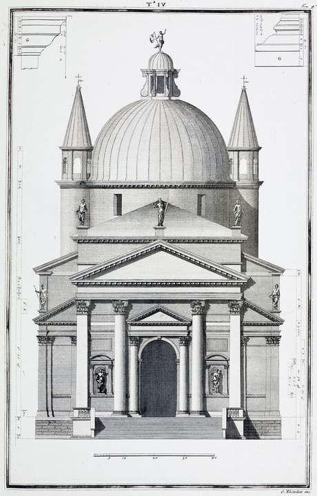 As proporções dão a sensação de harmonia. O legado de Palladio foi transformar as teorias vitruvianas em edifícios tangíveis
