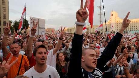 Protestos anti-Lukashenko são considerados históricos