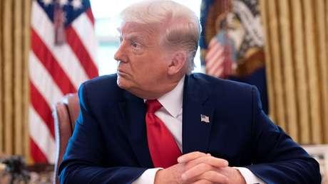 Trump disse que a reportagem do New York Times é 'notícia falsa'