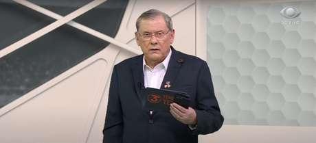 Milton Neves durante programa na Band (Imagem: Reprodução/TV Bandeirantes)