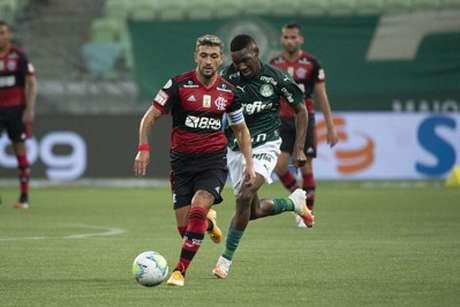 Arrascaeta fez grande partida contra o Palmeiras (Foto: Alexandre Vidal / Flamengo)