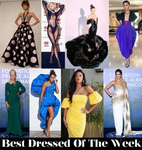 Bruna na votação da semana do site Red Carpet Fashion Awards (Foto: Reprodução)