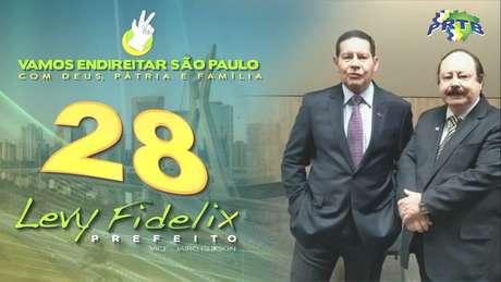 Hamilton Mourão apoia Levy Fidelix em vídeo para campanha à Prefeitura de São Paulo