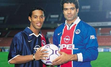 Raí superou Ronaldinho Gaúcho e foi eleito o melhor jogador do PSG