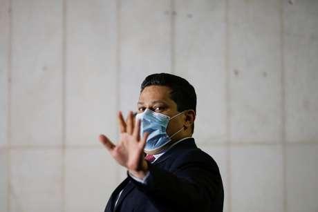 Alcolumbre, no Congresso  21/7/2020 REUTERS/Adriano Machado