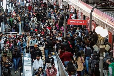 Estação de metrô em São Paulo