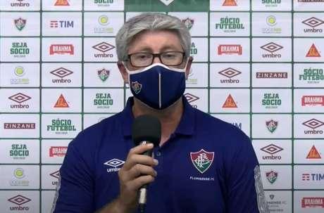 Odair rebateu críticas após goleada do Flu (Reprodução/Flu TV)