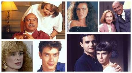 Alguns atores de 'Meu Bem, Meu Mal' em fotos da época da novela