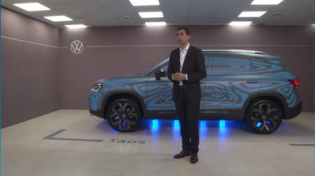 Martín Massimino, diretor comercial da Volkswagen na Argentina, durante a live do Taos.