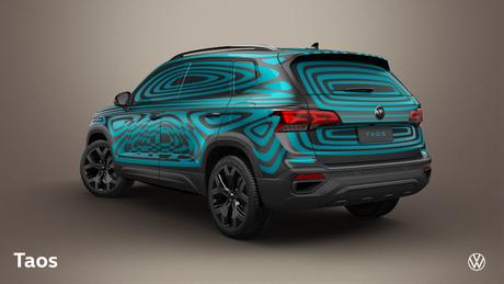 Apesar de camuflado, Volkswagen Taos revela todas as linhas principais do design.