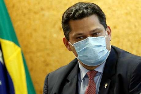 Presidente do Congresso Nacional, senador Davi Alcolumbre, durante cerimônia em Brasília 05/08/2020 REUTERS/Adriano Machado