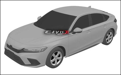 Parte dianteira do novo Honda Civic terá mudanças em todos os elementos, inclusive no capô.